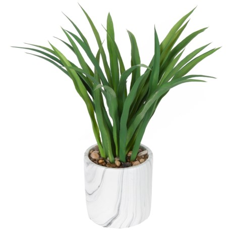 "Siena Floral Accents Aloe in Marble Pot - 14x5"" in See Photo"