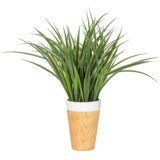 """Siena Floral Accents Grass in Ceramic Pot - 18"""""""