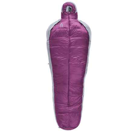 Sierra Designs 20°F Mobile Mummy 3-Season Down Sleeping Bag - 800 Fill Power (For Women) in Purple/Gray - Closeouts