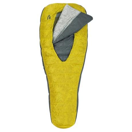 Sierra Designs 30°F Backcountry Bed Elite 2-Season Down Sleeping Bag - 850 Fill Power, Short in Yellow/Gray