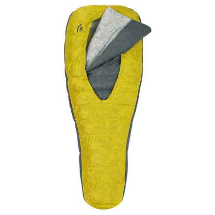 Sierra Designs 30°F Backcountry Bed Elite 2-Season Sleeping Bag - 850 Fill Power, Long in Yellow/Gray - Closeouts