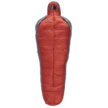 Sierra Designs 30°F Mobile Mummy 2-Season Down Sleeping Bag - 800 Fill Power, Long in Orange/Gray - Closeouts