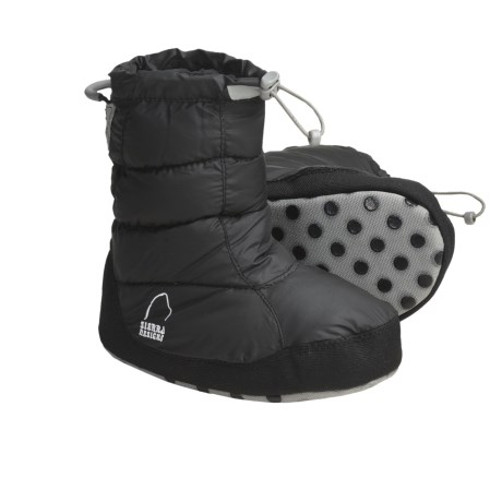 Sierra Designs Down Booties - 700 Fill Power (For Girls) in Black