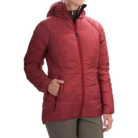 Sierra Designs Elite DriDown Hooded Parka - 850 Fill Power (For Women) in Chili - Closeouts
