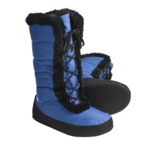 Sierra Designs Fireside Down Booties - Waterproof, 700 Fill Power, Lace-Ups (For Women) in Blueberry - Closeouts