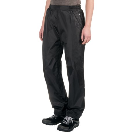 Sierra Designs Microlight Rain Pants (For Women) in Black