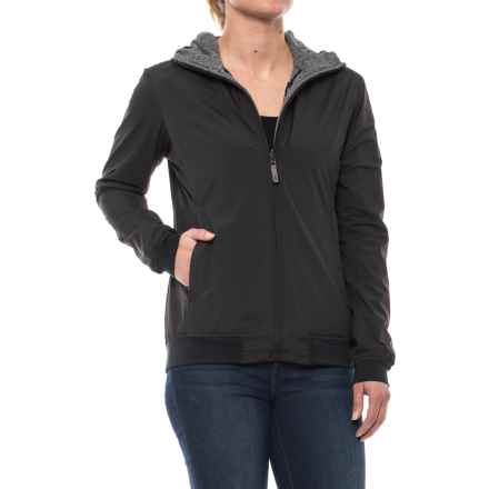 Sierra Designs Outside-In Reversible Hooded Jacket (For Women) in Black - Closeouts