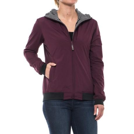 Sierra Designs Outside-In Reversible Hooded Jacket (For Women) in Purple