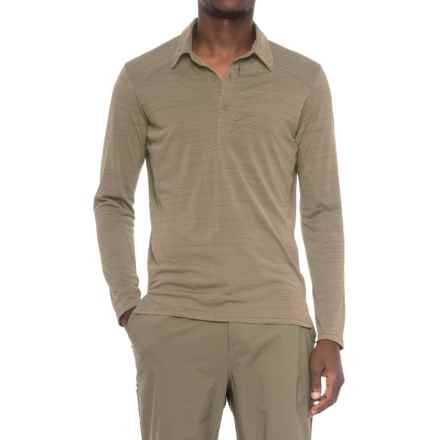 Sierra Designs Pack Polo Shirt - Long Sleeve (For Men) in Aluminum - Closeouts