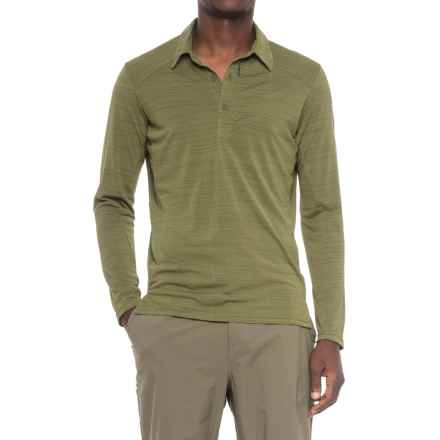 Sierra Designs Pack Polo Shirt - Long Sleeve (For Men) in Olive Night - Closeouts