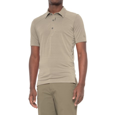 Sierra Designs Pack Polo Shirt - Short Sleeve (For Men) in Aluminum