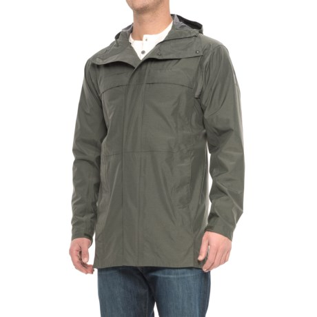 Sierra Designs Pack Trench Jacket - Waterproof (For Men) in Dark Green Heather