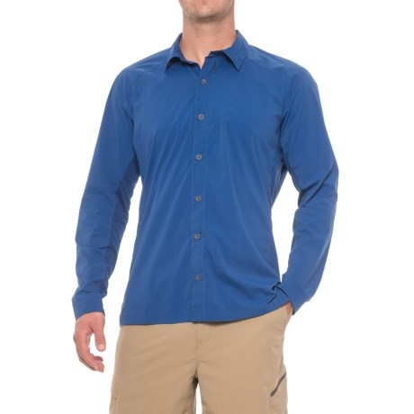 Sierra Designs Solar Wind Shirt - UPF 35, Long Sleeve (For Men) in True Blue