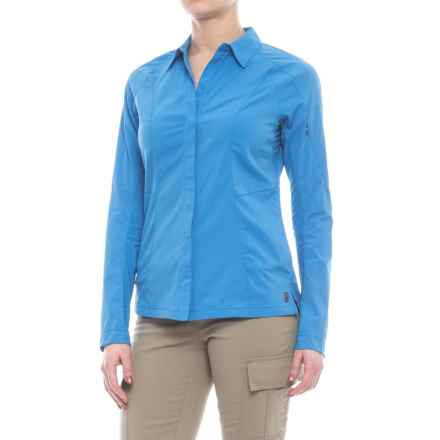 Sierra Designs Solar Wind Shirt - UPF 35, Long Sleeve (For Women) in French Blue - Closeouts