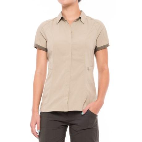 Sierra Designs Solar Wind Shirt - UPF 35, Short Sleeve (For Women) in Aluminim/Stone