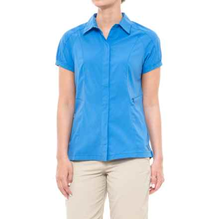 Sierra Designs Solar Wind Shirt - UPF 35, Short Sleeve (For Women) in French Blue - Closeouts