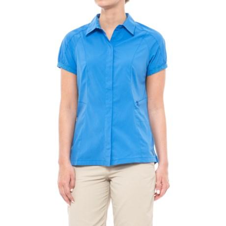 Sierra Designs Solar Wind Shirt - UPF 35, Short Sleeve (For Women) in French Blue