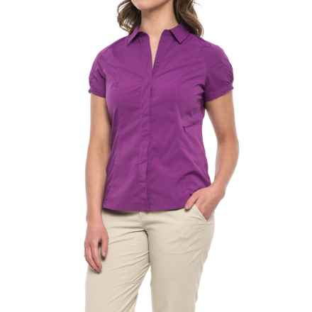 Sierra Designs Solar Wind Shirt - UPF 35, Short Sleeve (For Women) in Lilac - Closeouts