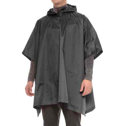 Sierra Designs Storm Poncho - Waterproof (For Men and Women) in Black - Closeouts
