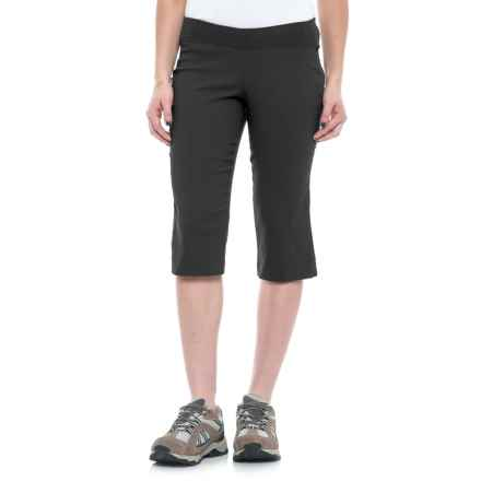 Sierra Designs Stretch Trail Capris (For Women) in Black - Closeouts