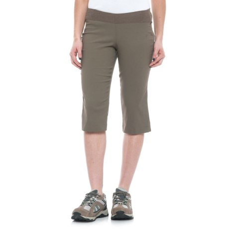Sierra Designs Stretch Trail Capris (For Women) in Stone