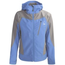 Sierra Designs Vapor Hoodie Jacket - Soft Shell (For Women) in Sky/Shale - Closeouts