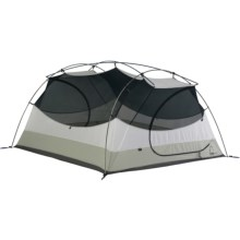 Sierra Designs Zia 3 Tent with Footprint and Gear Loft - 3-Person, 3-Season in White/Tan - Closeouts