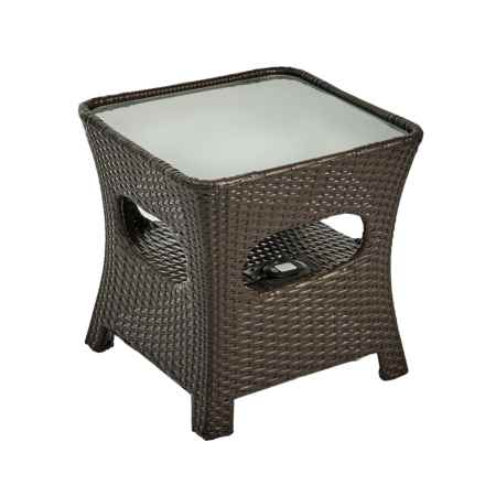 Sierra Rattan Bluetooth® Wireless Audio Table in Brown - Closeouts