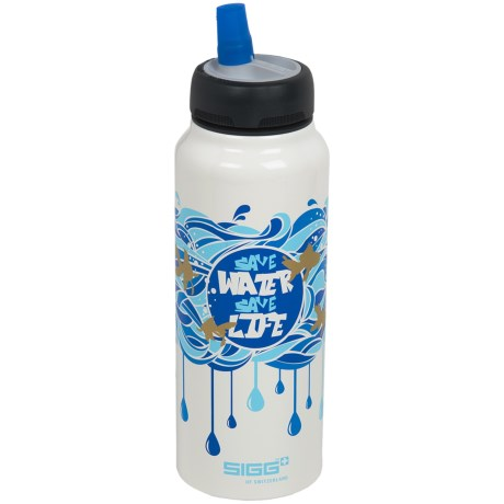 Sigg Active Top Water Bottle - 0.75L, BPA-Free in Save Water Save Life