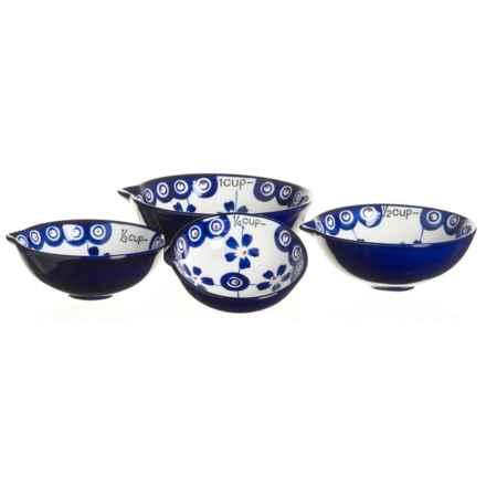 Signature Housewares Potter Print Measuring Set - 4-Piece Set in Blue - Closeouts