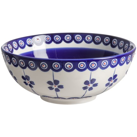 Signature Housewares Potter Print Serve Bowl - Stoneware in Blue/White
