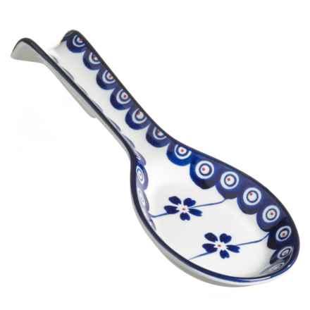 Signature Housewares Potter Print Spoon Rest - Stoneware in Blue/White - Closeouts