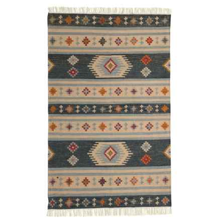 Signature Styles Rust Southwest Style Area Rug - 5x8', Wool-Cotton in Rust - Closeouts