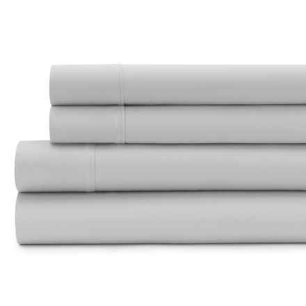 Signet by Baltic Linen Cotton Sateen Sheet Set - Queen, 300 TC in Silver - Closeouts
