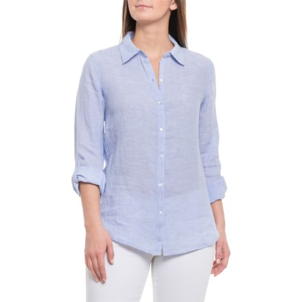 cb0ce5b15df Sigrid Olsen Brunnera Blue Cross-Dyed Shirt - Long Sleeve (For Women) in