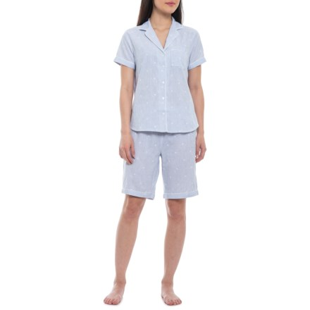 1ae8f3a410a63 Sigrid Olsen Embroidered Notch Collar Shorty Pajamas - Short Sleeve (For  Women) in Blue