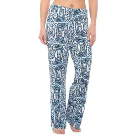 Sigrid Olsen Ikat Elephant Pajama Pants (For Women) in Navy - Closeouts
