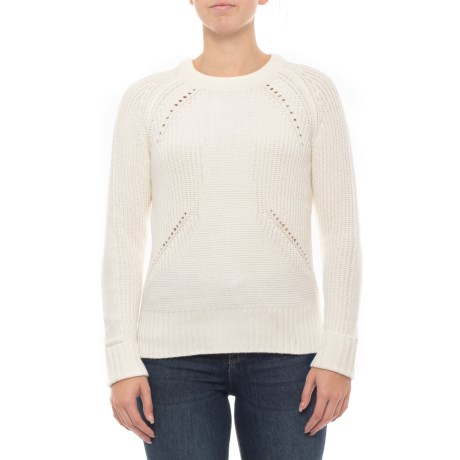 941f556bc60ab7 Sigrid Olsen Mixed-Stitch Sweater (For Women) in Ivory Solid