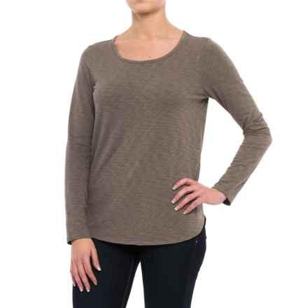 Sigrid Olsen Modern Slub-Knit Shirt - Long Sleeve (For Women) in Trans Ivy - Closeouts