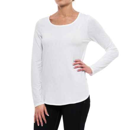 Sigrid Olsen Modern Slub-Knit Shirt - Long Sleeve (For Women) in White - Closeouts