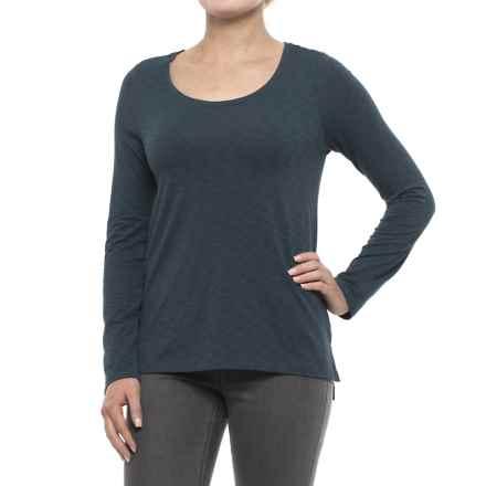 Sigrid Olsen Scoop Neck Shirt - Long Sleeve (For Women) in Outer Space - Closeouts