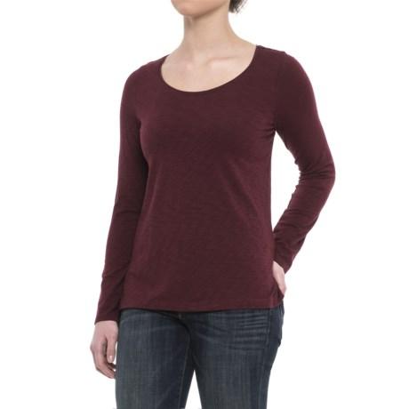 Sigrid Olsen Scoop Neck Shirt - Long Sleeve (For Women) in Vamp