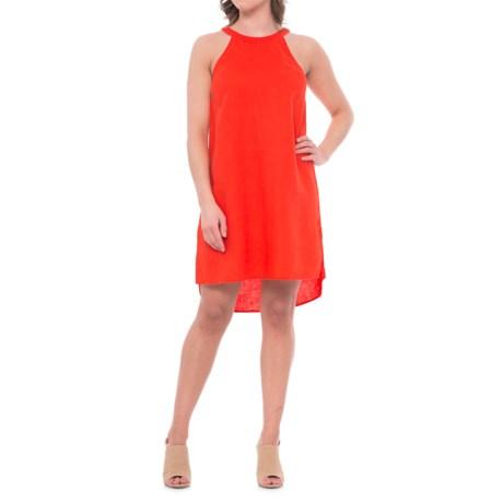 Sigrid Olsen Solid Linen Halter Dress - Sleeveless (For Women) in Cosmetic