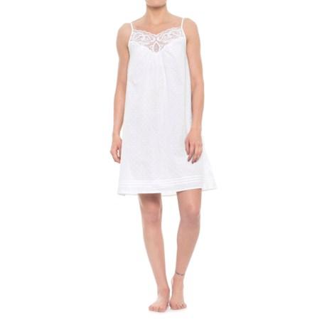 Sigrid Olsen Strappy Swiss Dot Chemise - Sleeveless (For Women) in White
