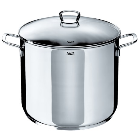 Silit 18/10 Stainless Steel Stockpot with Glass Lid 12 qt.