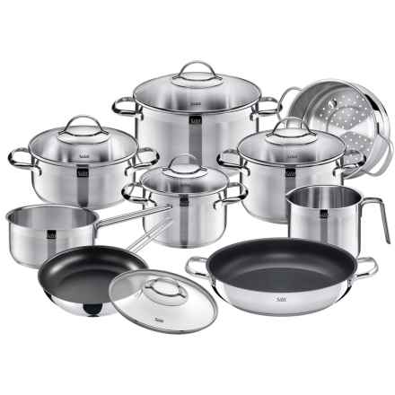 Silit Achat Stainless Steel Cookware Set - 14-Piece in Stainless Steel - Closeouts
