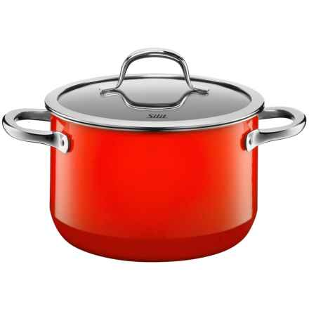 Silit Passion High Casserole Pot with Lid - 3.9 qt. in Red - Closeouts