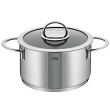 Silit Vignola High Casserole with Lid - 18/10 Stainless Steel, 4 qt. in Stainless - Overstock
