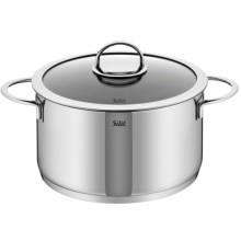 Silit Vignola High Casserole with Lid - 18/10 Stainless Steel, 6.6 qt. in Stainless - Overstock