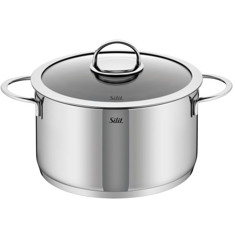 Silit Vignola High Casserole with Lid 18/10 Stainless Steel, 6.6 qt.